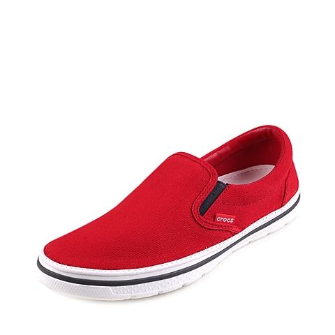 Crocs卡骆驰 春夏专柜同款 诺林中性帆布便鞋火红/白色 旅行 便鞋 休闲鞋201084-884
