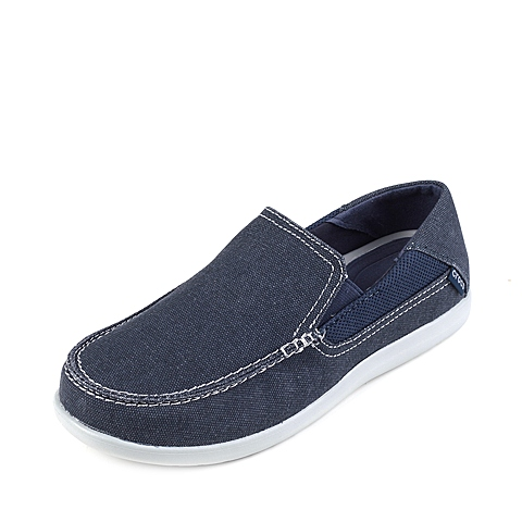 Crocs卡骆驰 男子 2016春夏专柜同款 圣克鲁兹帆布便鞋二代深蓝/浅灰 旅行 便鞋 休闲鞋202056-41S