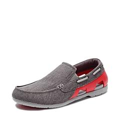 Crocs卡骆驰 男子 春夏专柜同款 男士海滩帆布便鞋石墨色/火红 旅行 便鞋 休闲鞋202774-0Y0