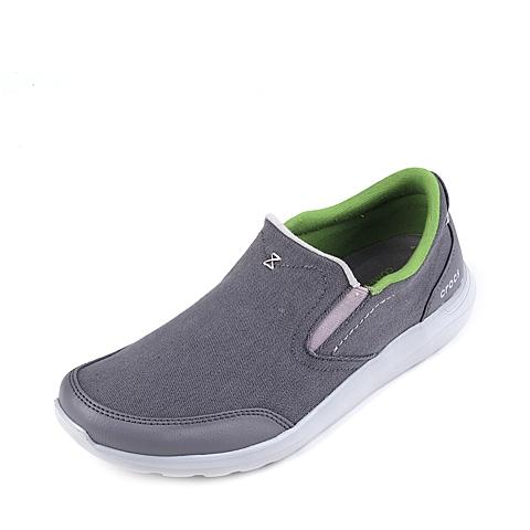 Crocs卡骆驰 男子 春夏专柜同款 塞尔王帆布便鞋炭灰/浅灰 旅行 便鞋 休闲鞋203051-01W