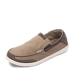 Crocs卡骆驰 男子 春夏专柜同款 追风沃尔卢舒适便鞋卡其/蘑菇色 旅行 便鞋 休闲鞋203473-24Q