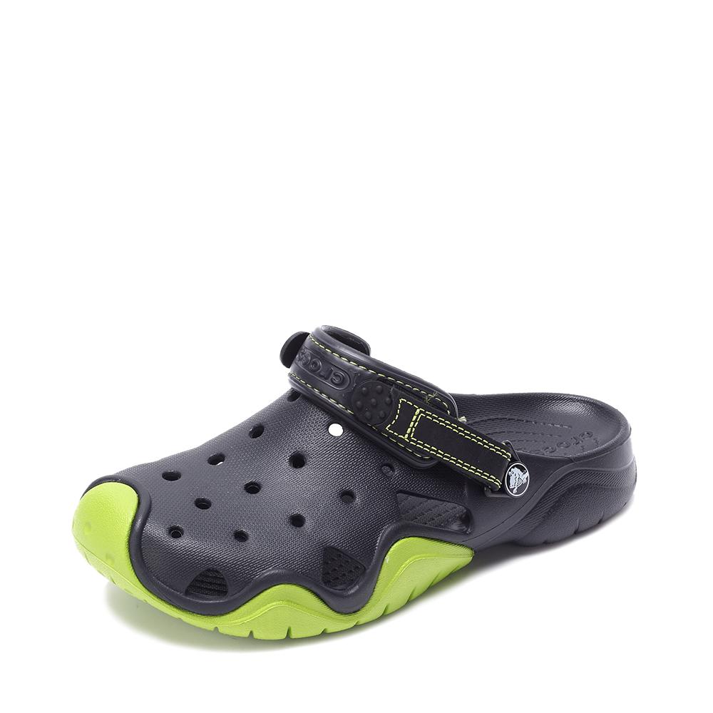 Crocs卡骆驰 男子 2016春夏 专柜同款 激浪男士克骆格 黑色/翠绿 沙滩 旅行 戏水 洞洞鞋202251-09W