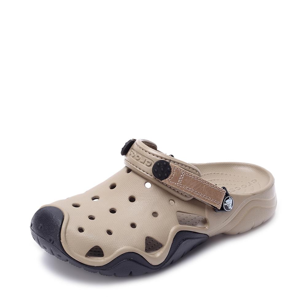 Crocs卡骆驰 男子 2016春夏 专柜同款 激浪男士克骆格 卡其/黑色 沙滩 旅行 戏水 洞洞鞋202251-284