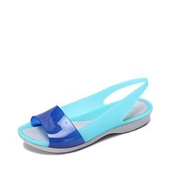 Crocs卡骆驰 女子 春夏 专柜同款 女士色彩布骆格亮透平底鞋蔚蓝/珍珠白 沙滩 旅行 戏水 凉鞋200032-4CU