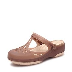 Crocs卡骆驰 女子 春夏 专柜同款 女士夏日卡莉玛丽珍古铜/金色  沙滩 旅行 戏水 凉鞋202455-81D
