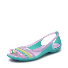 Crocs卡骆驰 女子 春夏 专柜同款 女士伊莎贝拉平底凉鞋 鸢尾紫  沙滩 旅行 戏水 凉鞋202463-532