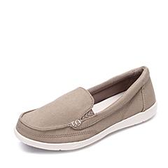 Crocs卡骆驰 女子 春夏 专柜同款 女士沃尔卢帆布便鞋二代卡其/水泥灰  休闲 旅行 202489-26P