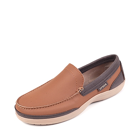 Crocs卡骆驰 男子 春夏专柜同款 男士卡乐彩乐福鞋 榛子色/深咖啡色 旅行 便鞋 休闲鞋15944-28H