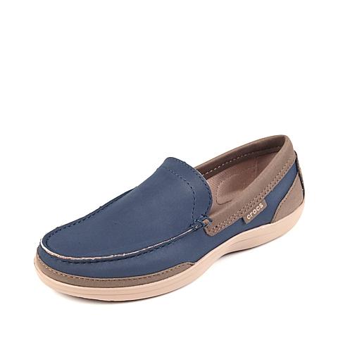 Crocs卡骆驰 男子 2016春夏专柜同款 男士卡乐彩乐福鞋 深蓝/草灰 旅行 便鞋 休闲鞋15944-4BM