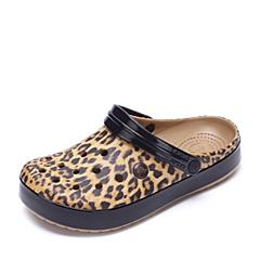 Crocs卡骆驰 男女中性 春夏 专柜同款豹纹卡骆班 驼色 沙滩 旅行 戏水 男女同款洞洞鞋203681-266