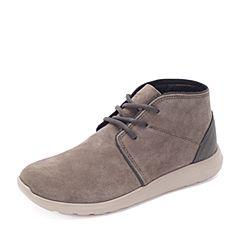 Crocs卡骆驰 专柜同款 秋季男士 塞尔王短靴 塞尔王短靴 蘑菇色/卵石色 203391-2V8