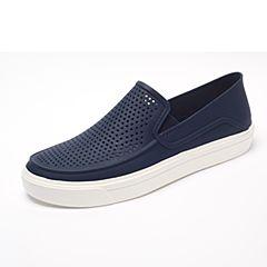 Crocs卡骆驰 男子 春夏专柜同款 都会街头洛卡便鞋深蓝/白色 旅行 便鞋 休闲鞋202363-462