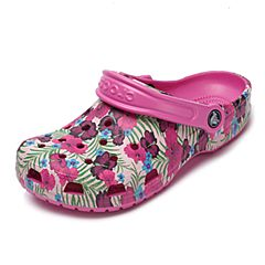 Crocs 卡骆驰 2017年春夏季 专柜同款 派对粉中性经典花纹克骆格洞洞鞋 休闲鞋204612-6U9