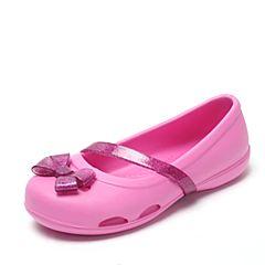 Crocs 卡骆驰 2017年春夏季 专柜同款 派对粉女童莉娜小平底鞋洞洞鞋 休闲鞋204028-6U9