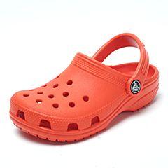 Crocs 卡骆驰 2017年春夏季 专柜同款 橘子橙中性童鞋经典小克骆格洞洞鞋 休闲鞋204536-817