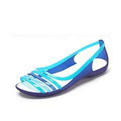 CROCS 卡骆驰 2017年春夏季 新款伊莎贝拉平底凉鞋蔚蓝/蓝松石色202463-4O7