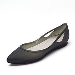 CROCS 卡骆驰 2017年春夏季 新款女士芮欧平底鞋黑色/铂金色16265-0W8