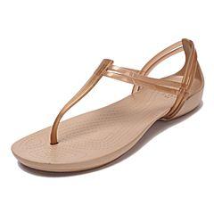 CROCS/卡骆驰春夏季新款古铜女士伊莎贝拉T型凉鞋202467-854
