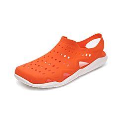 CROCS/卡骆驰2017年春夏季新款橙色/白色激浪男士涉水鞋203963-846