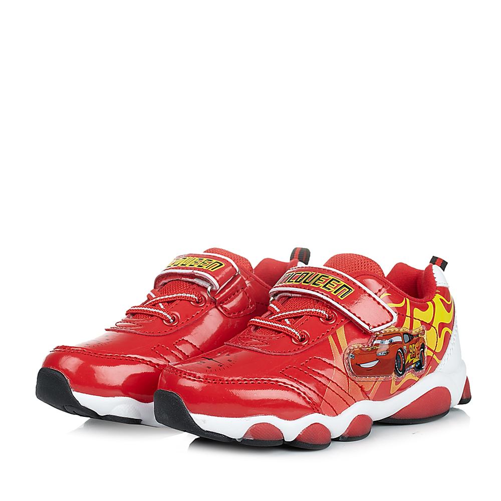 disney/迪士尼童鞋2014冬季pu红色运动鞋跑步鞋灯鞋ds