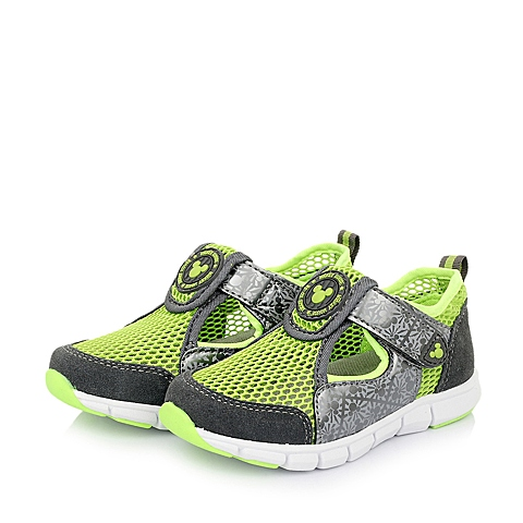 DISNEY/迪士尼童鞋春季新款反毛皮/织物灰色男小中童休闲鞋DS0557
