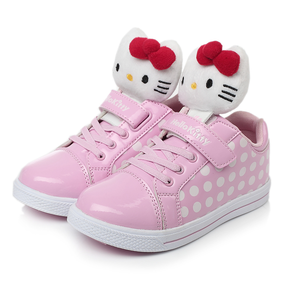 hello kitty/凯蒂猫2013秋季粉色pu女小中童可爱板鞋i31215