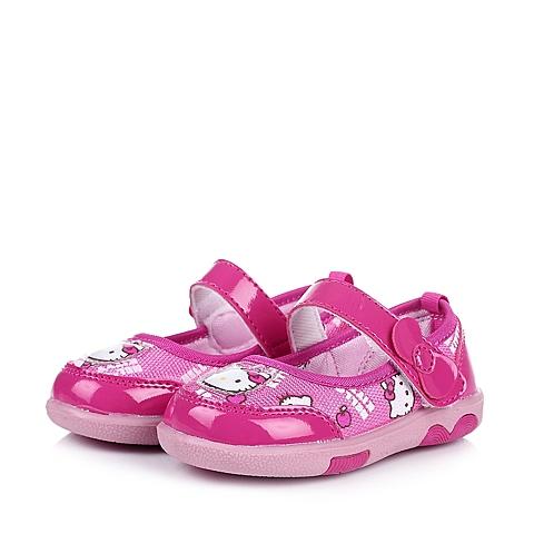 HELLO KITTY/凯蒂猫童鞋2015春季新款PU/织物桃红女婴幼童休闲鞋DI3331