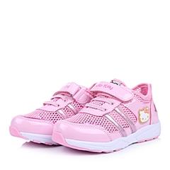 HELLO KITTY/凯蒂猫童鞋2015春季新款PU/织物粉色女小中童运动鞋DI3295