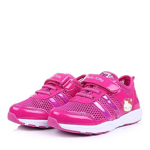 HELLO KITTY/凯蒂猫童鞋春季新款PU/织物桃红女小中童运动鞋DI3295