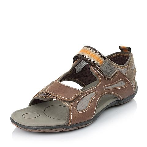 Hush Puppies/暇步士夏季专柜同款棕色牛皮男休闲鞋K0339BL4