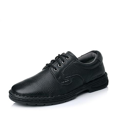 Hush Puppies/暇步士秋季专柜同款黑色牛皮男单鞋01126CM4