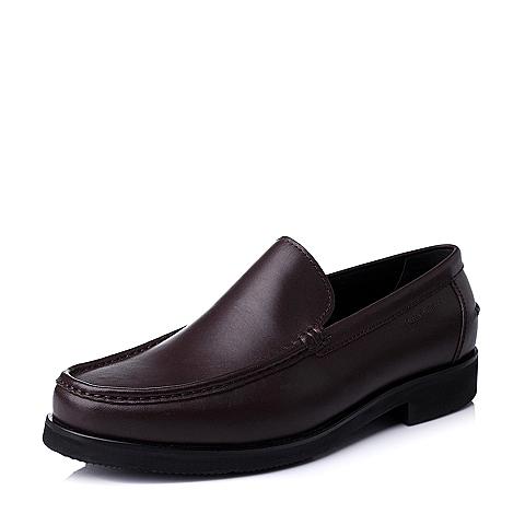 Hush Puppies/暇步士秋季专柜同款啡色牛皮商务男皮鞋K4210CM4