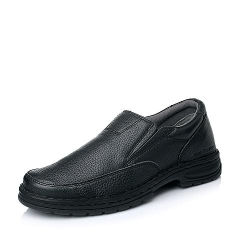 Hush Puppies/暇步士秋季专柜同款黑色牛皮男单鞋01125CM4