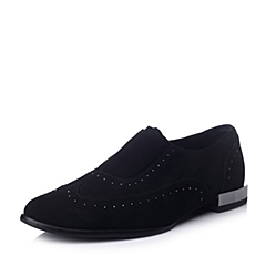 Hush Puppies/暇步士专柜同款黑色羊绒女皮鞋HHB25CM4