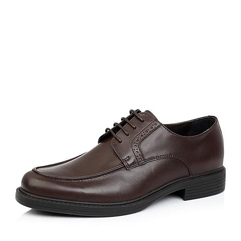 Hush Puppies/暇步士秋季专柜同款棕色牛皮男单鞋K4205CM4