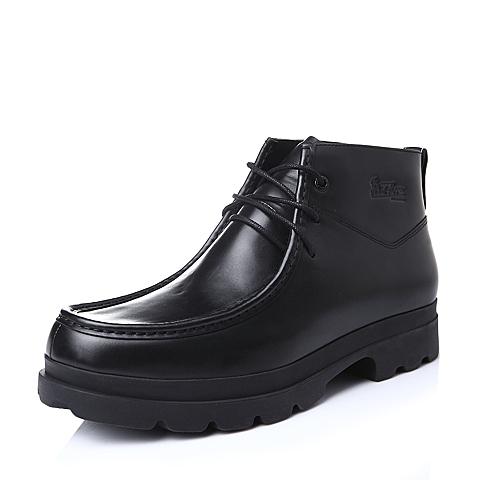Hush Puppies/暇步士冬季专柜同款牛皮革男靴(绒里)H4A43DD5