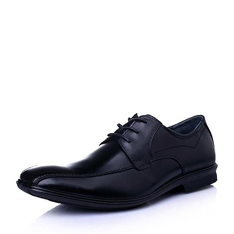 Hush Puppies/暇步士2016春季专柜同款黑色牛皮商务正装男单鞋01374AM6