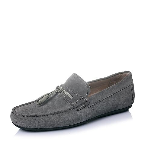 Hush Puppies/暇步士2016春季专柜同款灰二层牛皮男单鞋H2N33AM6