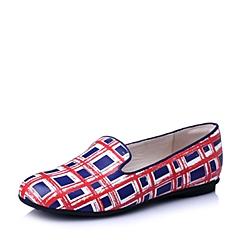 Hush Puppies/暇步士2016春季专柜同款兰色牛皮时尚休闲女单鞋HJZ04AM6