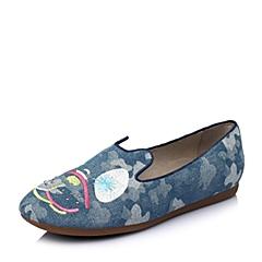 Puppies/暇步士春专柜同款兰白印花布趣味图案女休闲鞋HAV42AM6