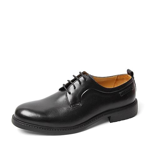 Hush Puppies/暇步士2016春季专柜同款黑色光面牛皮男单鞋K1W02AM6 专柜1