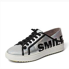 Hush Puppies/暇步士2016春季专柜同款银色牛皮革女休闲鞋 专柜1 HJR23AM6