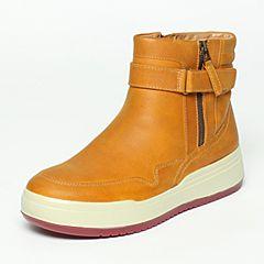 Hush Puppies/暇步士2016年冬季专柜同款棕色牛皮革女休闲鞋X1T04DZ6
