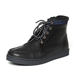 Hush Puppies/暇步士冬季黑色牛皮男休闲靴H4W40DD6