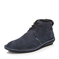 Hush Puppies/暇步士2016冬季专柜同款深兰牛皮革男休闲靴H5M41DD6