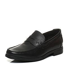Hush Puppies/暇步士秋季专柜同款黑色牛皮商务正装男皮鞋乐福鞋K2B03CM6