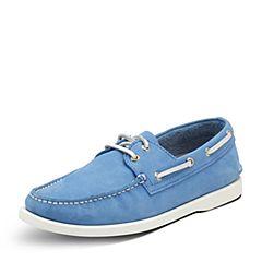 Hush Puppies/暇步士春季专柜同款蓝色牛皮磨砂舒适帆船型男休闲鞋K2D01AM7