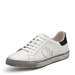 Puppies/暇步士春专柜同款白色牛皮时尚潮人男休闲鞋板鞋情侣鞋小脏鞋小白鞋B1C01AM7