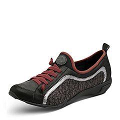 Hush Puppies/暇步士2017秋季新款专柜同款黑银色羊皮/布/牛皮舒适女休闲鞋HCM43CM7