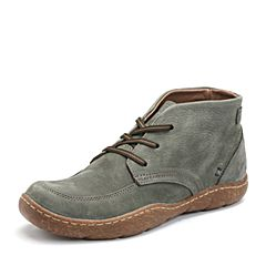 Hush Puppies/暇步士2017年冬季专柜同款深绿色牛皮鞋舒适男休闲靴01658DD7